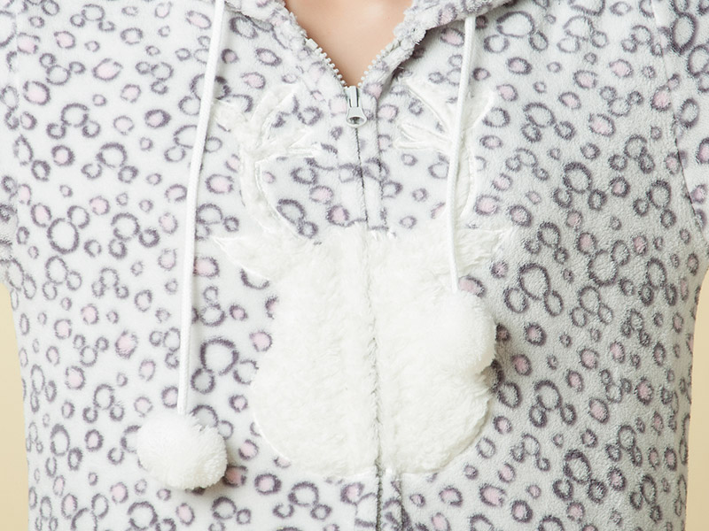 2016 Spring Women Girls Cute Ear Coral Fleece Track Suit Casual Outwear Hoodie Jacket Pant 2 Pieces Set Tracksuit For Family