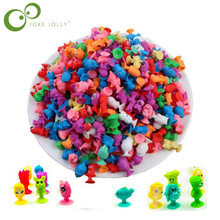 20pcs/lot Animal Action Figures toys Cupule kids Cartoon Sucker kids Mini Suction Cup Collector Capsule model  Toy WYQ