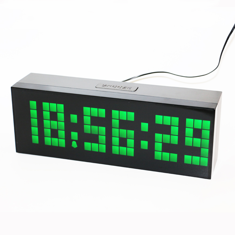 Desk Wall Led Digital Alarm Clock Countdown Timer Clock with Temperature Calendar Display 2 inch Bright LED numbers easy to read