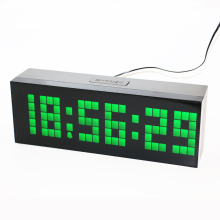 Digital Backlight Time Date Temperature Display Red Green Blue White LED Alarm Clock