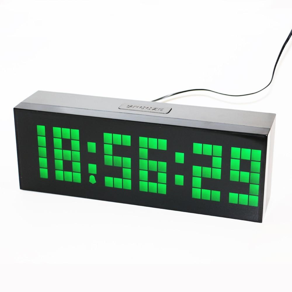 9a818f76da7f Pared escritorio reloj despertador digital LED reloj temporizador de Cuenta  atrás con la temperatura Calendarios pantalla 2 pulgadas brillante LED  números ...