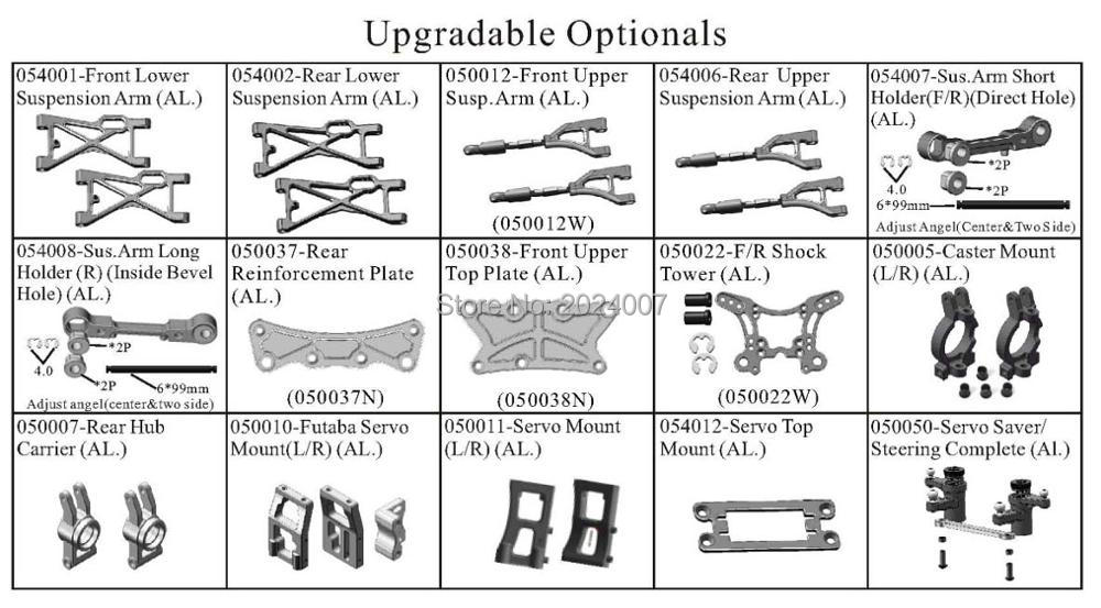 rc car upgradable aluminum spare parts for hsp 1/5 gas powered 4wd off road rtr truck 94050 (15 items) hsp racing rc car upgrade spare parts accessories 054201 al roll cage for hsp 1 5 gas powered 4wd off road baja 94054 94054 4wd