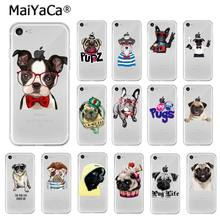 MaiYaCa Pet Dog Pug puppy TPU Soft High Quality Phone Case for iPhone X XS MAX 6 6s 7 7plus 8 8Plus 5 5S SE XR(China)