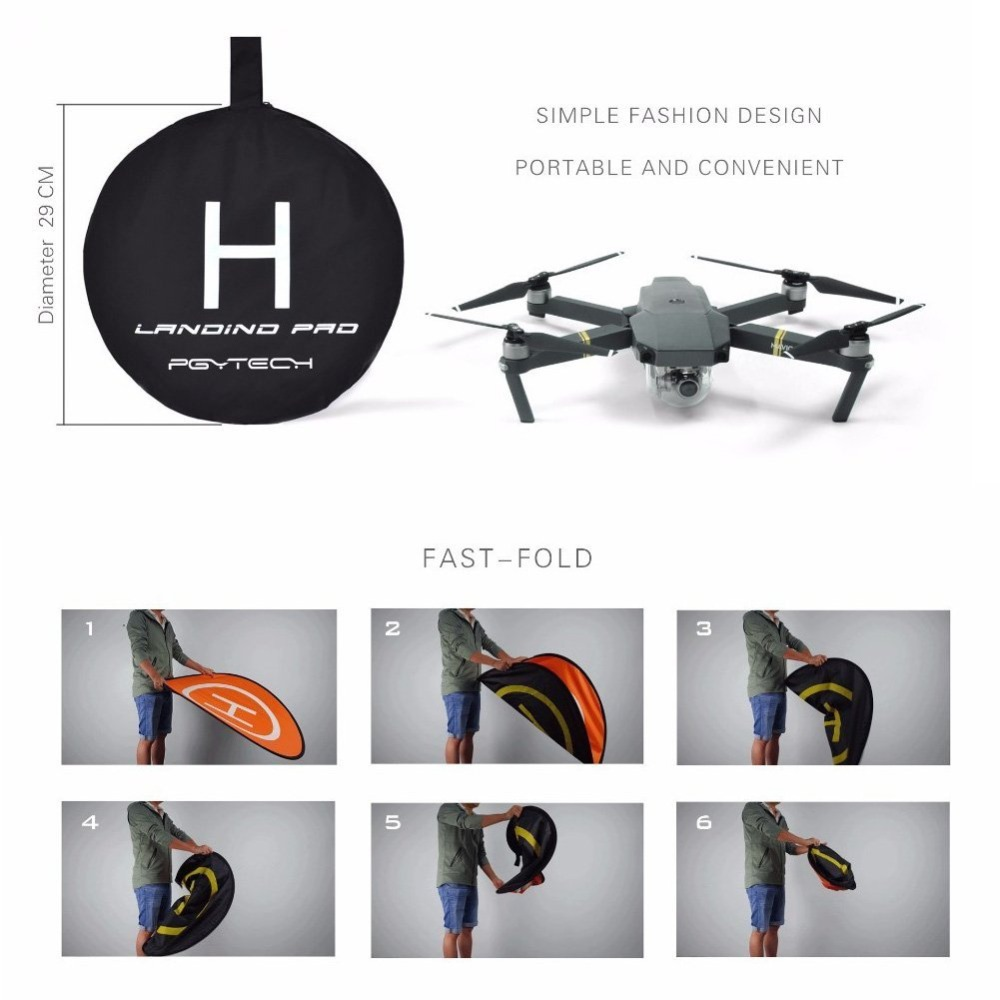 110cm Collapsible Waterproof Drone Landing Pad for DJI Mavic Pro Phantom 2/3/4 Inspire 1 Yuneec Q500/Typhoon F450 S550 F550 X600