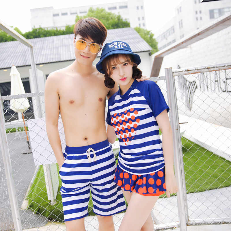 4696c340be ... Mother and Daughter Swimsuit Father and Son Matching Clothes Family  Clothing Couple Matching Swimsuit Girl Swimwear