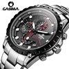 レロジオ Masculino Casima クロノグラフスポーツ腕時計メンズ 100 メートル防水チャーム発光ミリタリーアーミークォーツ腕時計時計 Saat