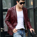 New Men's leather clothing Casual leather blazers 2016 spring autumn leather jacket men business casual leather coat outerwear