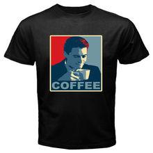 New David Lynch Coffee Maniac Men's Black T-Shirt Size S M L XL 2XL T Shirt Brand 2017 Male Short Sleeve Top Tee