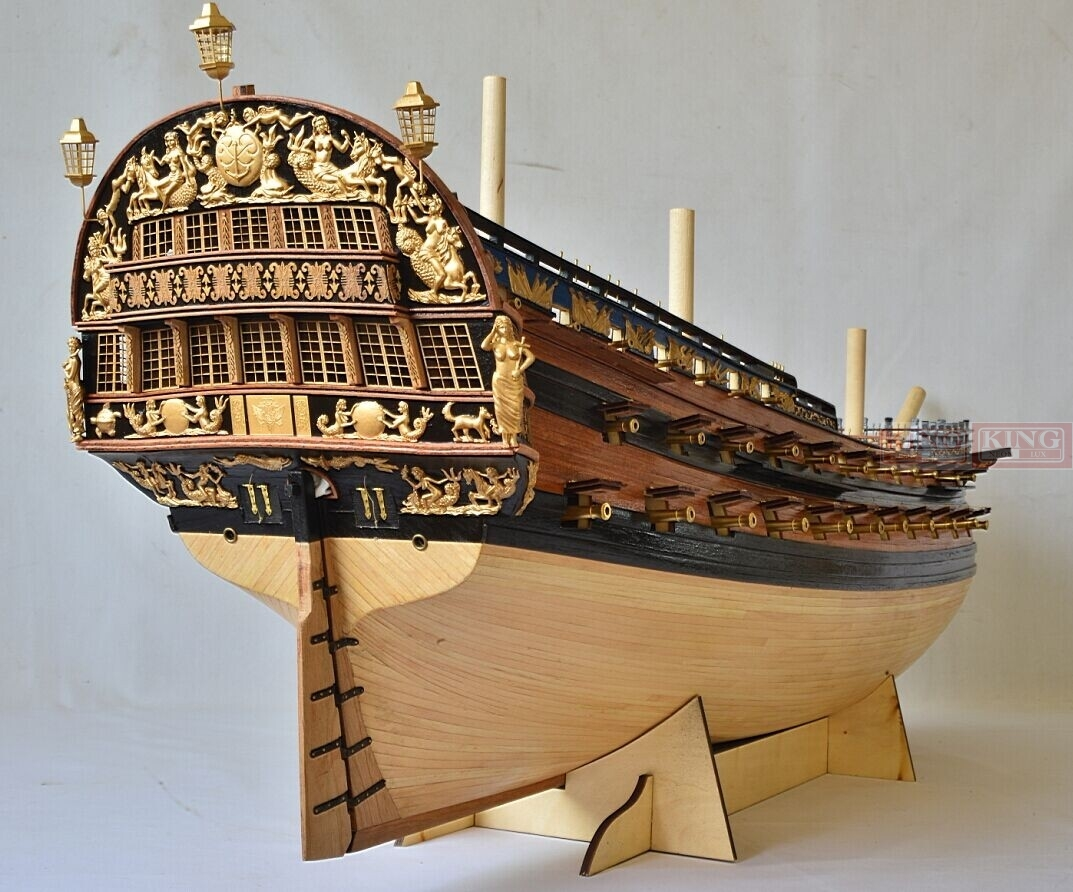 2014 version of Peter the Great's flagship ingermanland 1715l  1/50 scale sailing wood warship realts new edition flagship peter the ingermanland 1715 modelship kit collect level