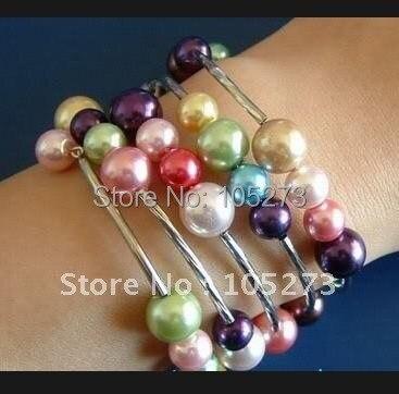 Очаровательная! Тибет серебро многоцветная браслет Модные украшения браслет Женщины и девушки ювелирные изделия Shipping5pcs/lot NF292