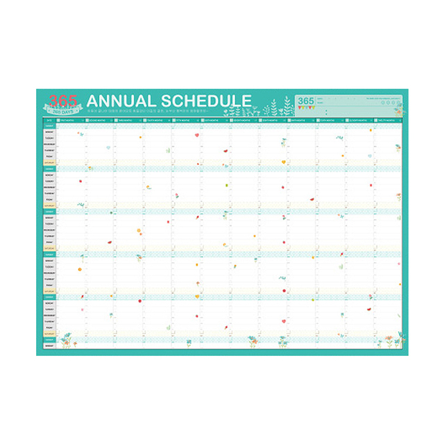 2018 planner 365 day calendars plan book cute cartoon paper ideas