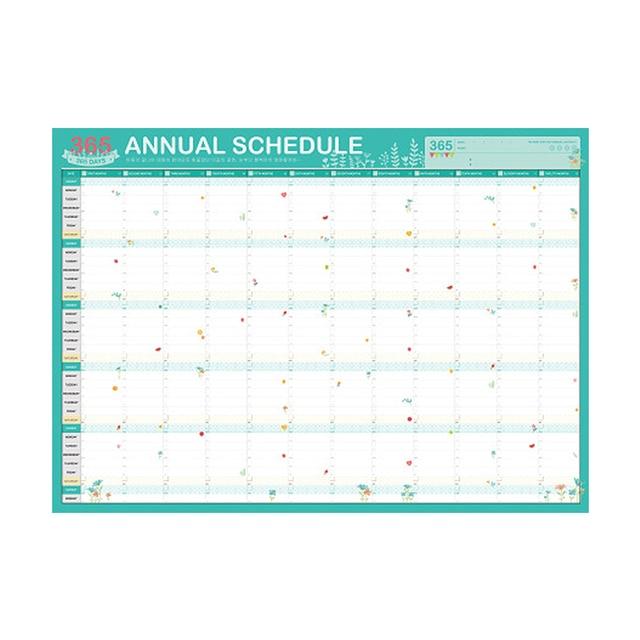 2019 Planner 365 Day Calendars Plan Book Cute Cartoon Paper Ideas Plan Book Kawaii Stationery School Office Supplies Agenda 2018