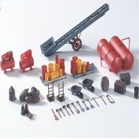 1:87 Shipping Belt And Accessory Model Plastic For Train Station Scene Layout