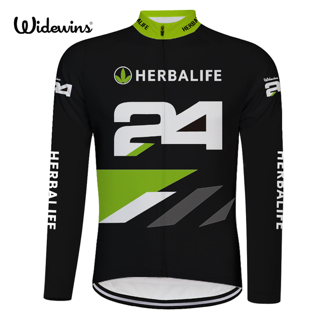HERBALIFE 24 Cycling Jerseys Ropa Ciclismo Cycling Jersey Long Sleeve Sports Clothing Full Voyage Mondiale Bicycle long 8008