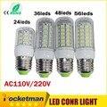 24/36/48/69 Leds E27 E14 CONDUZIU a Lâmpada de Luz AC 110/220 V SMD5730 Led luzes de Iluminação Da Lâmpada Do Projetor do Bulbo E27 Lâmpada Led de milho