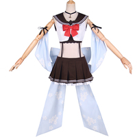 Japanese Amine Azur Lane Yuudachi Shiratsuyu Class Destroyer Cosplay Costume Beautiful Suits Woman Clothing with accessory