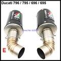 Para Ducati 796 795 696 695 Tubo De Escape Silenciador De Carbono fibra Motocicleta Silenciadores De Escape De Moto para a Ducati 796 795 696 695