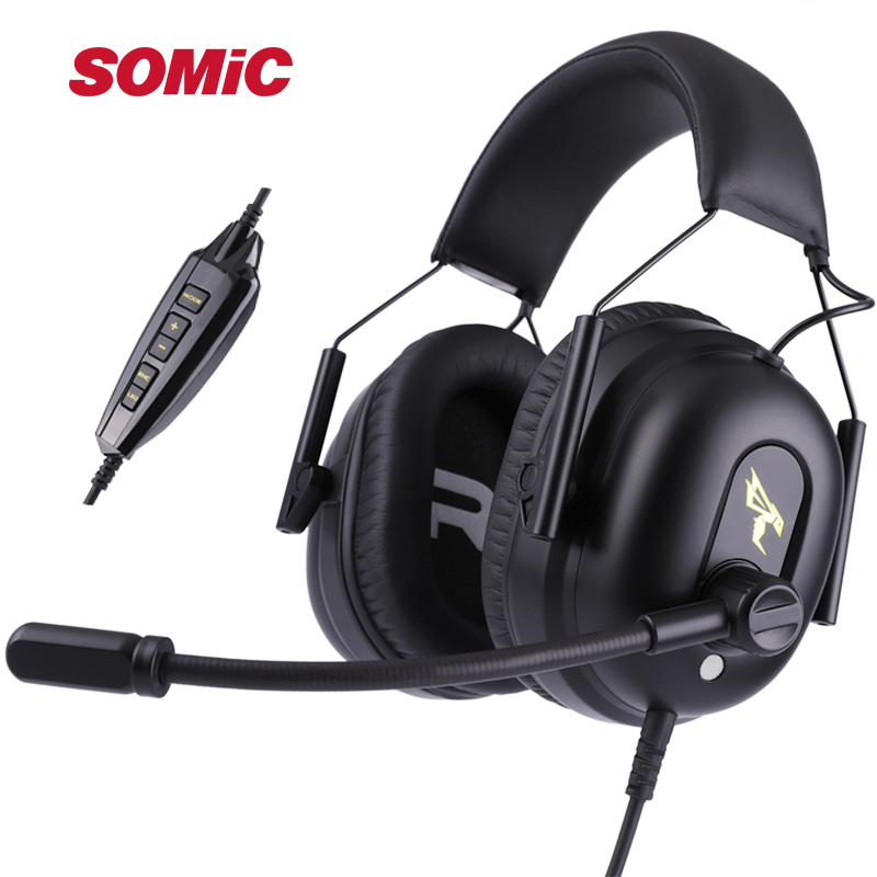 SOMIC G936 USB 7.1 Luxury Gaming Headsets Noise Cancelling Monitor Headphones for Playerunknown Battleground LOL CF PS4 PC Games somic g936 usb wired gaming headphone 7 1virtual with microphone headsets for pc for ps4 enc noise cancelling multimode switch