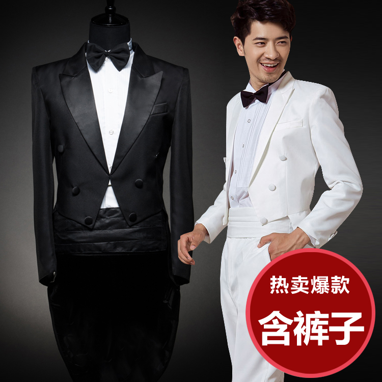 2017 Dance Costumes Ancient Chinese Costume Hmong Clothes Magic Man Style Tuxedo Tails Suit Host Men Chorus And Trousers Set