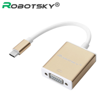 USB3.1 Type C Male to VGA Female Adapter USB Type-C Transfer to VGA Cable HD 1080P for Macbook Chromebook Pixel Lumia 950XL