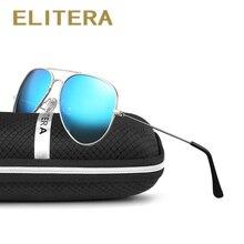 ELITERA gafas de sol polarizadas de aleación para hombre y mujer, lentes de sol unisex de diseño clásico Retro, adecuadas para conducir, con UV400