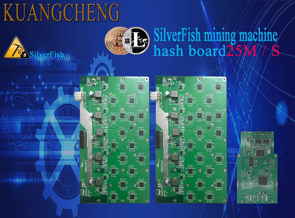 SilverFish hash board 25M Litecoin Miner Scrypt Miner the 420w better than  ASIC miner Zeus 25M Litecoin can benefit all Scrypt c