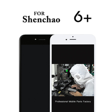TOP quality 5pcs for shenchao LCD For iPhone 6 Plus lcd With Touch Screen Digitizer Assembly Display Replacement+Camera Holer