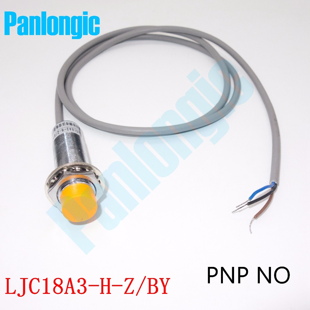 Panlongic High Quality LJC18A3-H-Z/BY Capacitance Proximity Sensor Switch DC 6-36V 300mA PNP NO Normally Open Free Shipping 5pcs proximity switch inductive sensor dc6 36v 3wire no pnp dc 300ma detection distance 2mm m8 lj8a3 2 z by