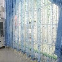 2014 חמה למכירה מוצר מוגמר חלון מסך בד רקום וילונות שקופים גזה וילון מודרני לסלון