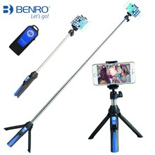 BENRO ручной и мини-штатив 3 в 1 Автопортрет монопод телефон Selfie stick W Bluetooth пульт дистанционного спуска затвора для IPhone Sumsang GoPro
