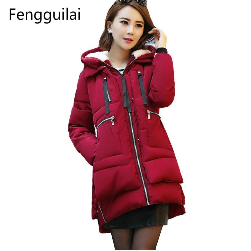 Women's Winter Jacket 2018 New Cotton Jacket   Parkas   Jacket Fashion Female Ladies Coat Plus Size M-5XL Long Thick Warm Hooded