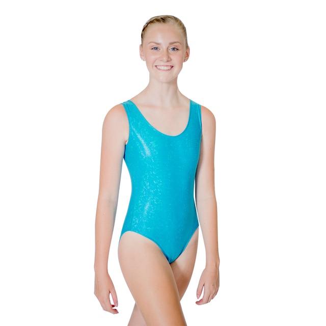 Shiny Gymanstic Leotard Women Sleeveless Dance Bodysuit NylonLycra Magnificent Leotard Pattern