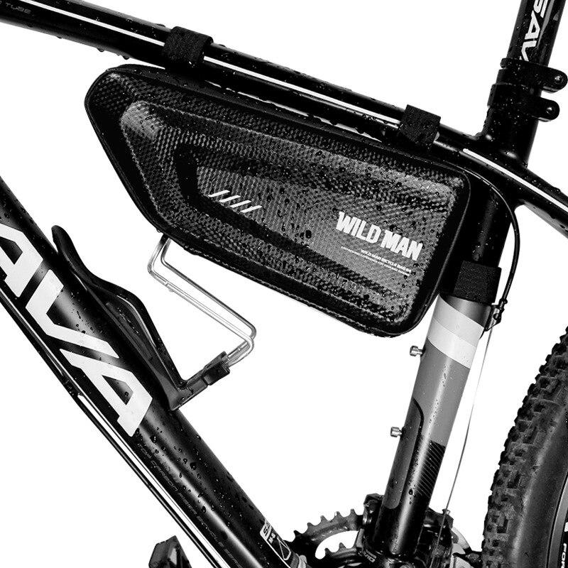 Waterproof Portable Mountain Bike Black Triangle Bag Bicycle Frame Beam Bags