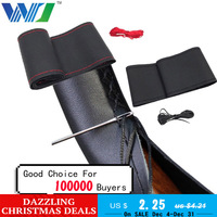 37cm/38CM DIY   Steering   Wheel   Covers   soft Leather braid on the   steering  -wheel of Car With Needle and Thread Interior accessories
