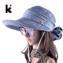 Женщин шляпа с защитным шарфом на шее Сомбреро с Широкими Полями летняя Козырек шляпы Открытый Анти-Уф шляпка с большими полями женская лето пляжная