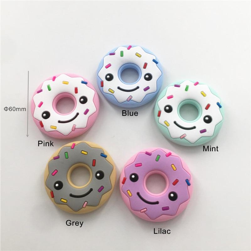 Chenkai 5 PCS Chupeta Mordedor BPA Livre Silicone Rosquinha DIY Bebê de Enfermagem Mamãe usando Jóias Animal de Mascar Grib Acessórios Do Brinquedo