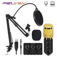FELYBY bm 800 Upgraded bm 900 Mikrofon Set Professional Karaoke Studio USB Condenser Micro
