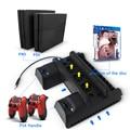 5 V Soporte Vertical de Doble Cargador USB de Enfriamiento del Muelle Para PS4 PS4 Slim Pro Consola