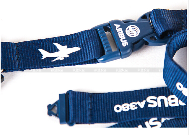 Airbus A380 Lanyard ID Holder with Metal Buckle