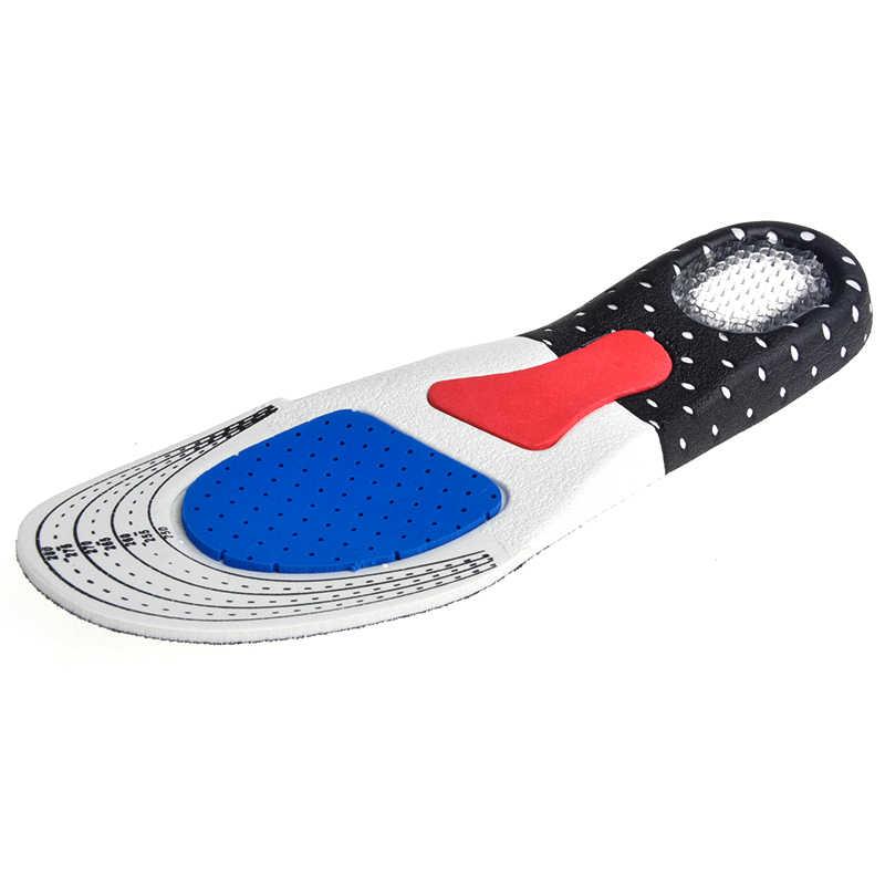 1 пара для стелька для спортивной обуви унисекс Утолщение амортизация баскетбольная футбольная обувь колодки Силиконовые Мягкие стельки