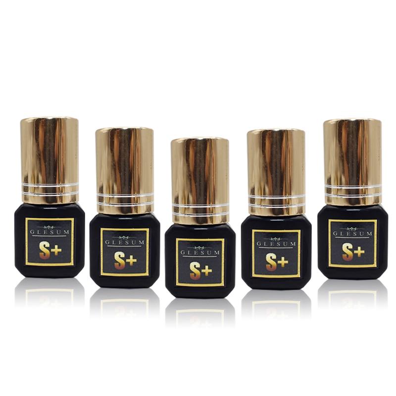 GLESUM 1-2 Sec 5 Garrafa Secagem Rápida Cola Extensão Dos Cílios 5ml Clear Black Cílios Vison Cílios Cola cosméticos Frete Grátis