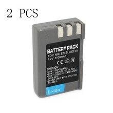 2 шт., 2 шт., батарея для цифровой камеры Nikon D40, D40X, D60, D3000, D5000, 1100 мАч