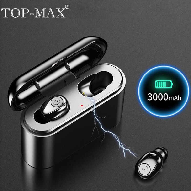 b59574876f0 TOP-MAX X8 TWS Mini Earphones True Wireless In-Ear Bluetooth 5.0 Earbuds  Noise