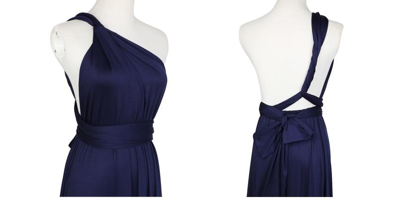 Sexy Long Dress Bridesmaid Formal Multi Way Wrap Convertible Infinity Maxi Dress Navy Blue Hollow Out Party Bandage Vestidos 17