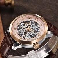 Pagani design 럭셔리 남성 시계 30 m 방수 남성 해골 시계 탑 가죽 투명 기계식 중공 남성 손목 시계