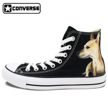 Custom Converse Skateboarding Shoes Men Women Athletic Sneakers Hand Painted Pet Dog Canvas Shoes Brand All Star