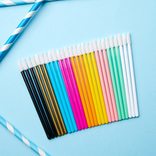 KESMALL Disposable lip brush 50pcs gloss glaze lipstick color makeup tools wholesale  CL0001