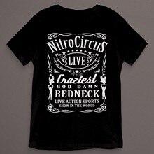 a0ed25276ecb Men T shirt Nitro Circus Redneck Label Black Printed funny t-shirt novelty  tshirt women
