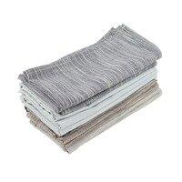 43x43 см платки из ткани набор из 12 шт хлопок лен теплоизоляционный коврик обеденный стол салфетка тканевые салфетки