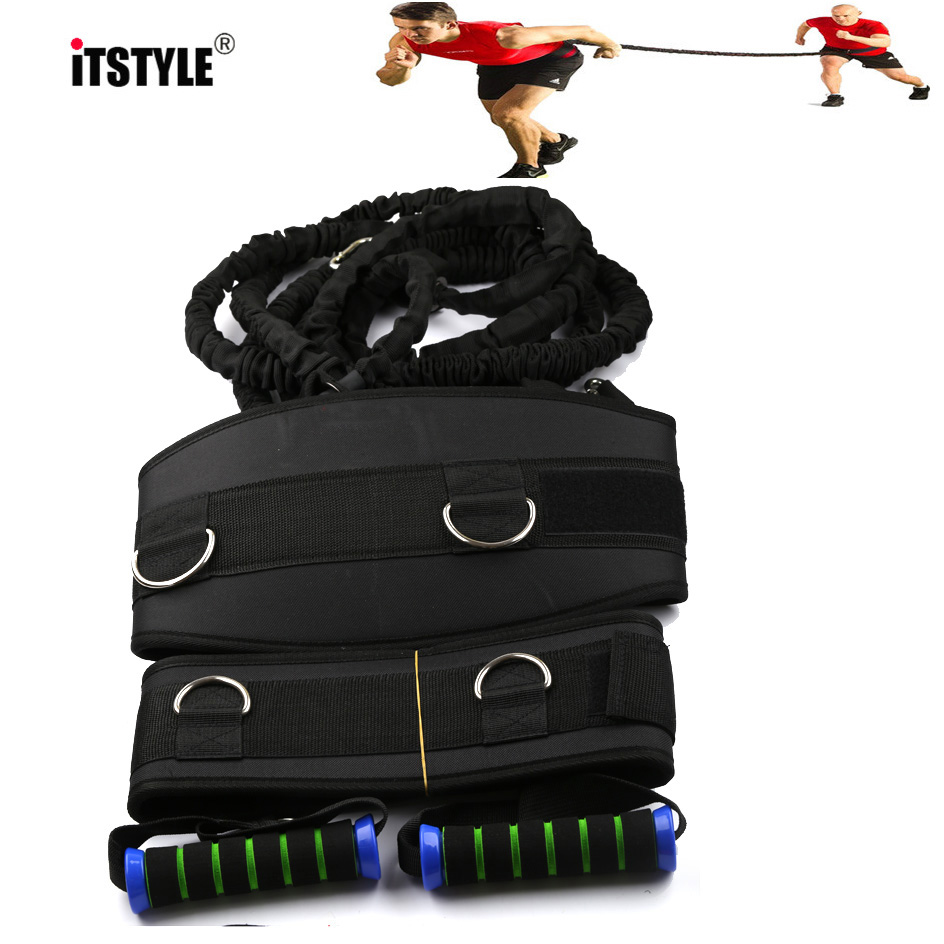 ITSTYLE Waist Resistance Bands Latex Athletics Training Fitness Running Pull Rope